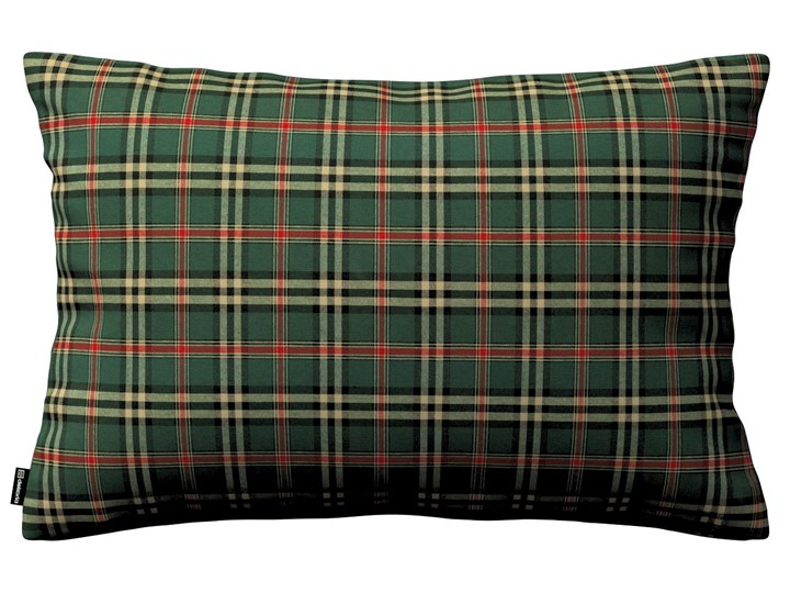 Dekoria Poszewka Kinga na poduszkę prostokątną, zielono - czerwona kratka, 60 × 40 cm, Bristol