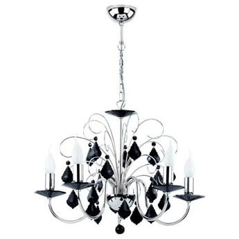 Lampa wisząca nowoczesna żyrandol PALMIRA V czarny/chrom śr. 54cm