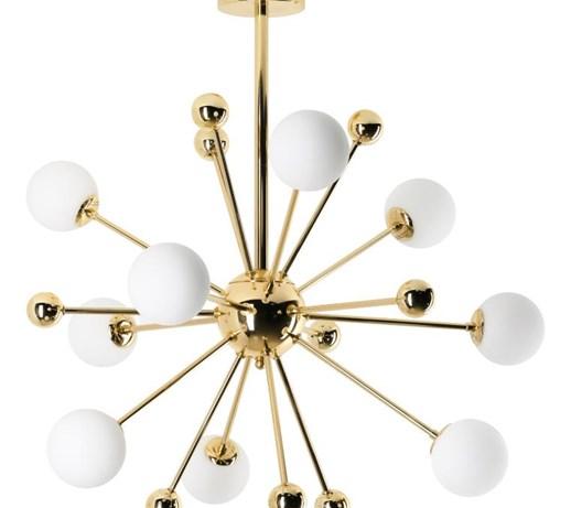 lampy miedziane kule pomysły, inspiracje z homebook