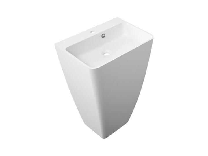 Umywalka wolnostojąca 55 cm Omnires PARMA UW Marble+ biały połysk
