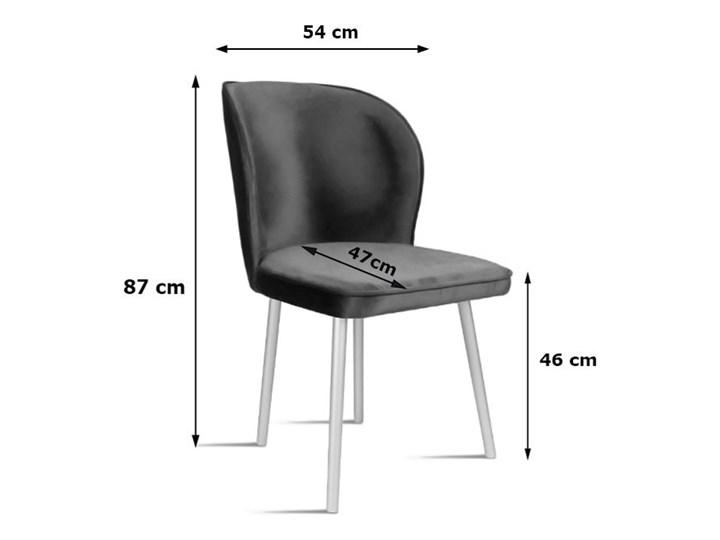 Bettso Krzesło RINO jasny szary / PA05 Wysokość 46 cm Tapicerowane Drewno Tkanina Szerokość 54 cm Głębokość 60 cm Szerokość 87 cm Głębokość 47 cm Wysokość 87 cm Styl Nowoczesny