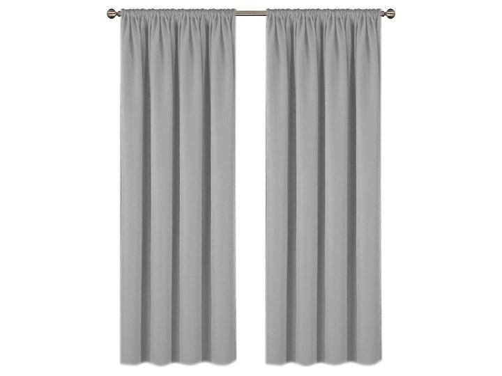 Zasłona ELODIA z matowej tkaniny na taśmie 145x250cm: Kolor - Szary Zasłony do salonu