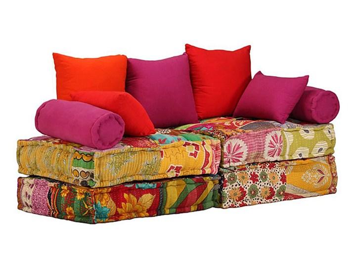 modułowa sofa patchworkowa demri 2d Stała konstrukcja Modułowe Rozkładanie Stała konstrukcja Modułowe Typ Gładkie