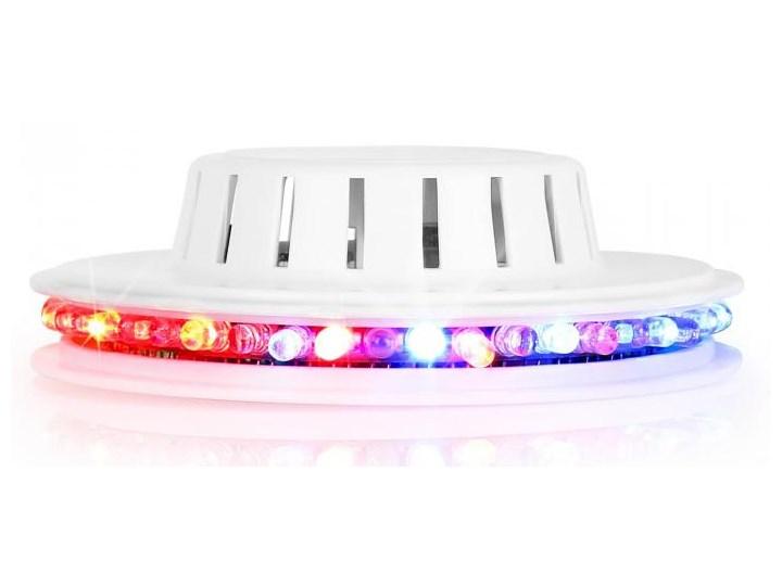 Ibiza LED UFO efekt świetlny biała obudowa mikrofon RGB