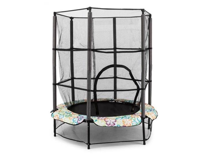 KLARFIT Rocketkid 4 trampolina 140cm siatka zabezpieczająca amortyzacja z liny bungee kwiatowy design Siatka do trampoliny