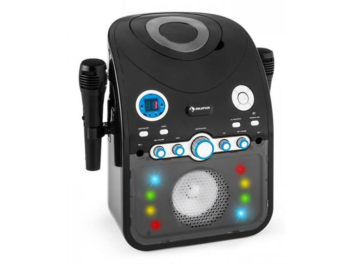 Auna StarMaker Zestaw karaoke Odtwarzacz CD Bluetooth AUX Efekt świetlny LED 2 x mikrofon