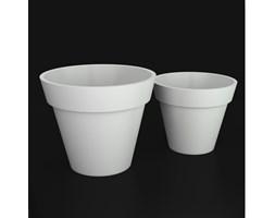 Donica z polietylenu SATURN PL-SA55-PD biały