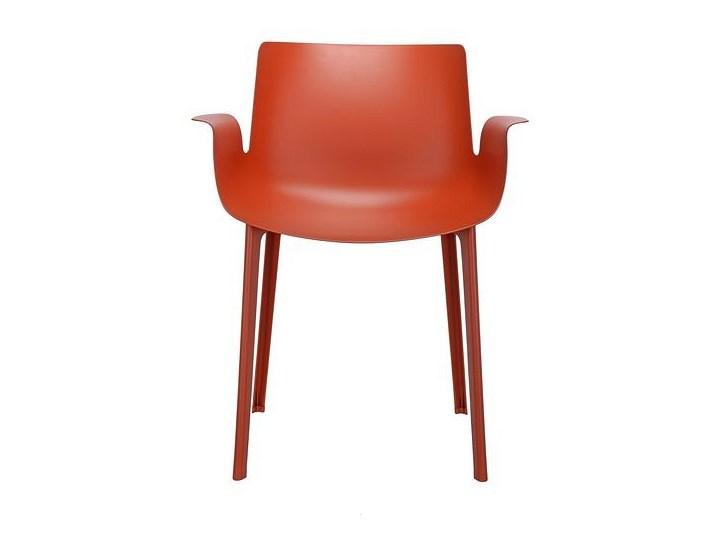 Krzesło Piuma Pomarańczowy Wysokość 48 cm Krzesło inspirowane Szerokość 62 cm Szerokość 50 cm Tworzywo sztuczne Wysokość 77 cm Głębokość 54 cm Styl Industrialny Z podłokietnikiem Styl Nowoczesny