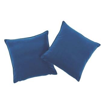 Poduszka Niebieska dekoracyjna z aksamitu ROMEO