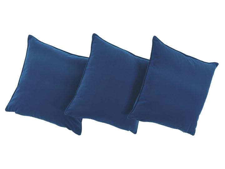 Poduszka Niebieska dekoracyjna z aksamitu ROMEO Bawełna Poduszka dekoracyjna 45x45 cm Poliester Pomieszczenie Salon Kwadratowe Poszewka dekoracyjna Pomieszczenie Pokój nastolatka