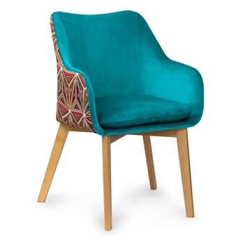 Krzesło HANN Turkus/Malavi- orzech , biały , czar