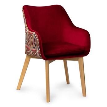 Krzesło HANN Rubinow/Malavi- orzech , biały , czar