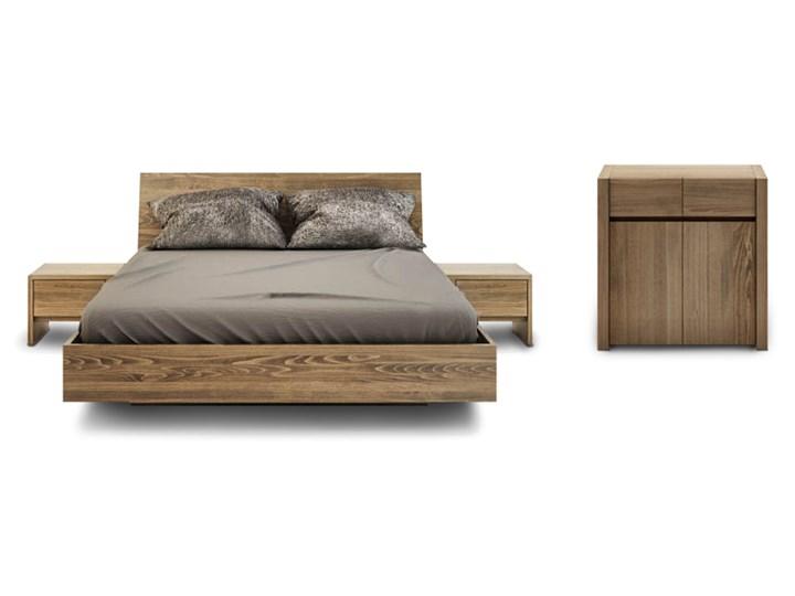 Zestaw bukowy BALLEGA: łóżko lewitujące 140 plus szafki plus komoda