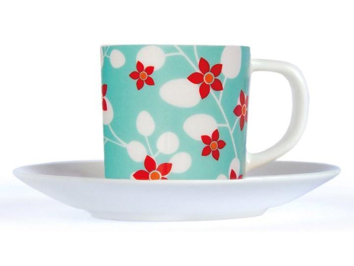 Filiżanka do kawy espresso Primavera z podstawką, 75 ml, porcelana, REMEMBER