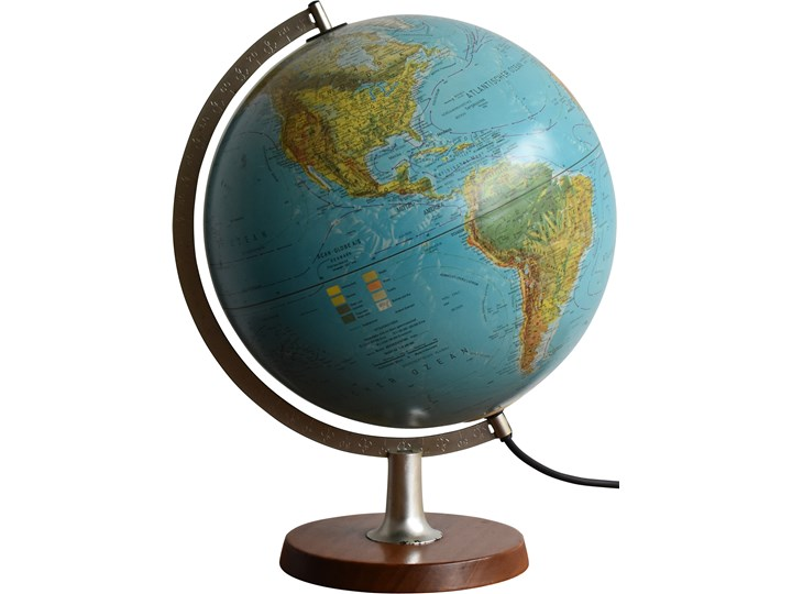 Globus, Scan-Globe AS, Dania, lata 70. Globusy Kula Drewno Metal Metal Drewno