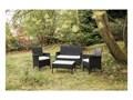 Zestaw mebli ogrodowych ze sztucznego rattanu Le Bonom Fila Zestawy wypoczynkowe Kolor Szary