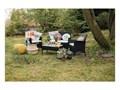 Zestaw mebli ogrodowych ze sztucznego rattanu Le Bonom Fila Zestawy wypoczynkowe Zawartość zestawu Stolik Kolor Szary
