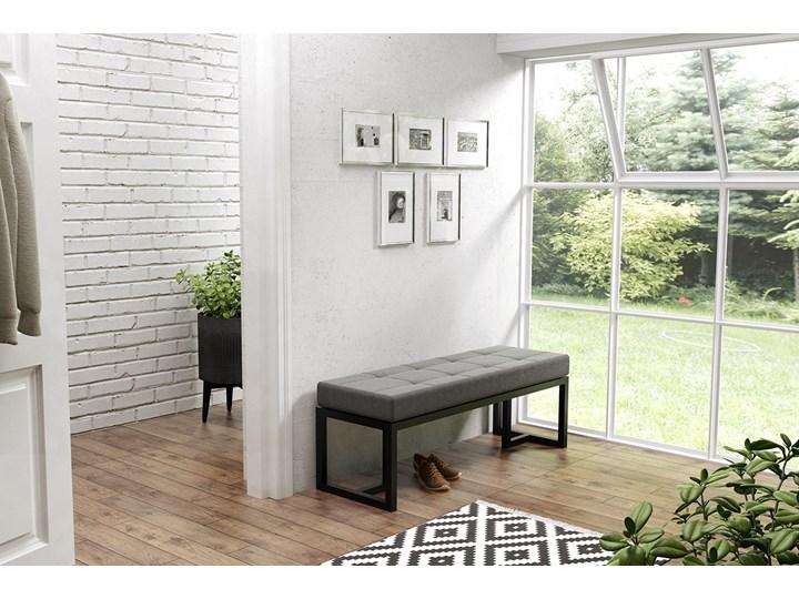 Siedzisko skórzane, ławka Ellyn Tradycyjna Pikowana Styl Minimalistyczny