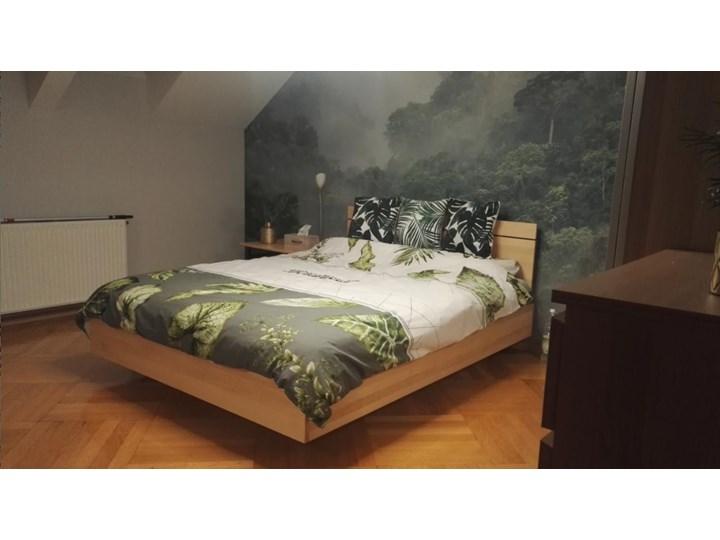 Ballega łóżko bukowe lewitujące 140x200 cm Łóżko drewniane Pojemnik na pościel Z pojemnikiem Kategoria Łóżka do sypialni