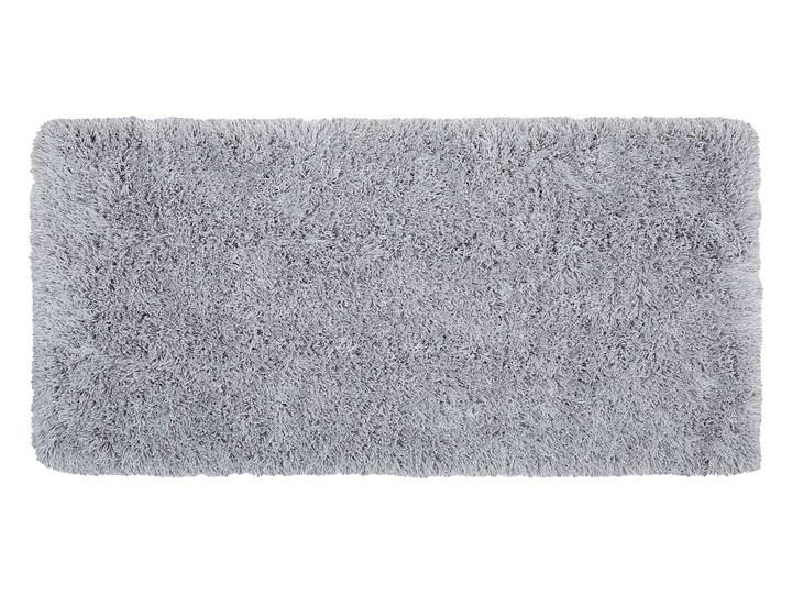 Dywan shaggy szary 80 x 150 cm puszysty włochacz Bawełna Poliester 80x150 cm Prostokątny Dywany Pomieszczenie Salon Pomieszczenie Sypialnia