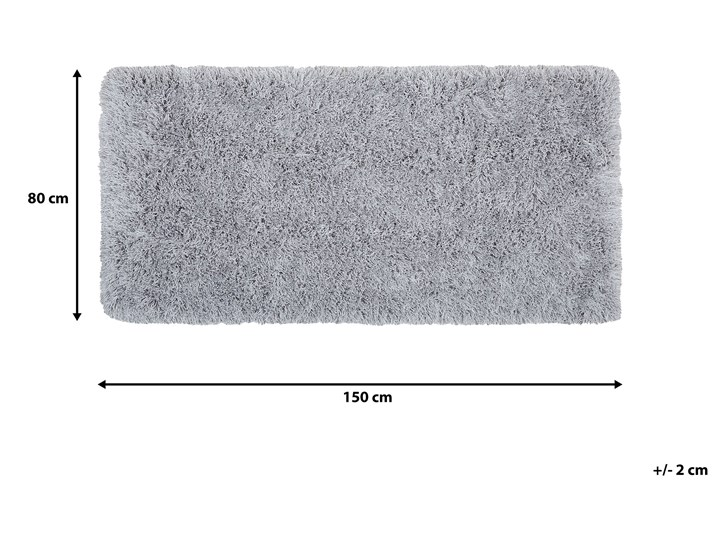Dywan shaggy szary 80 x 150 cm puszysty włochacz Pomieszczenie Sypialnia Prostokątny Poliester Dywany 80x150 cm Bawełna Pomieszczenie Salon