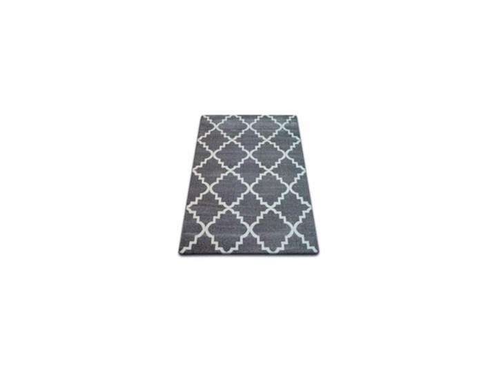 """Dywan szary wzor biały  koniczyna marokańska  wybierz rozmiar""""TRELLIS BASIC """"     80x150cm 80x150 cm Syntetyk Dywany Syntetyk Wzór Marokański"""