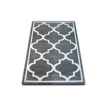 """Dywan  szary wzor biały  koniczyna marokańska trellis basic wybierz rozmiar"""" SKETCH GREY""""  240x330cm"""