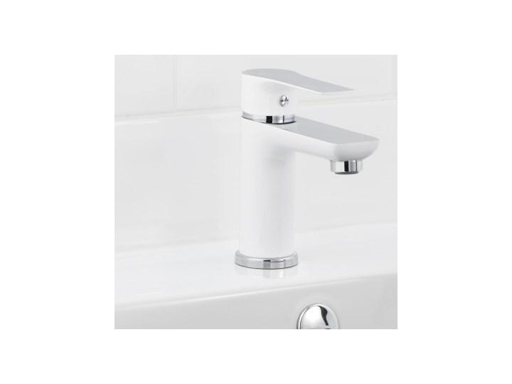 Bateria umywalkowa GoodHome Wicie biała Kolor Biały