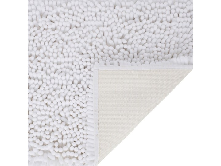 Dywanik łazienkowy Abava 50 x 80 cm biały Poliester 50x80 cm Prostokątny Kategoria Dywaniki łazienkowe