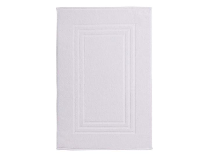 Dywanik łazienkowy Palmi bawełniany 50 x 80 cm biały Bawełna 50x80 cm Prostokątny Kategoria Dywaniki łazienkowe