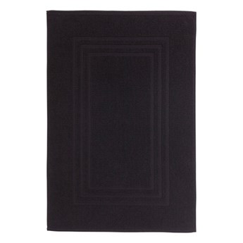 Dywanik łazienkowy Palmi bawełniany 50 x 80 cm czarny