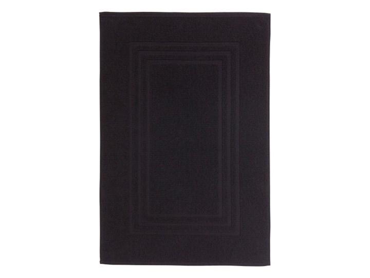 Dywanik łazienkowy Palmi bawełniany 50 x 80 cm czarny 50x80 cm Prostokątny Bawełna Kategoria Dywaniki łazienkowe