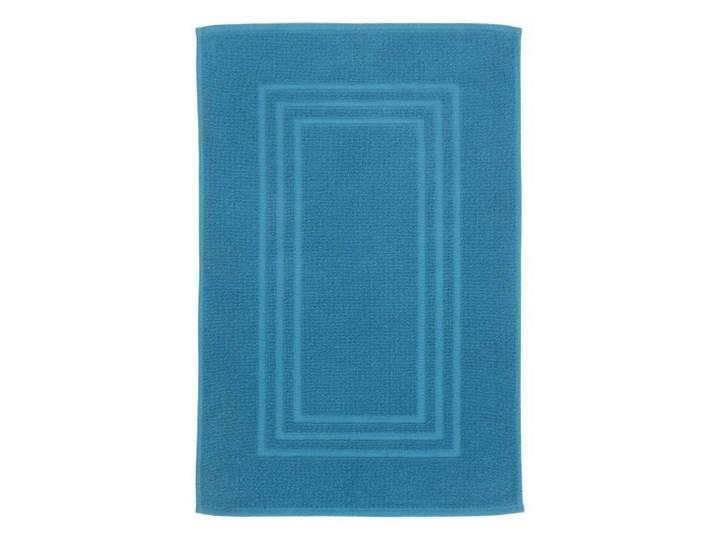 Dywanik łazienkowy Palmi bawełniany 50 x 80 cm niebieski