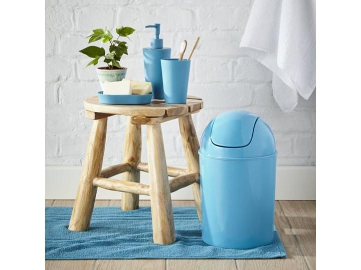 Dywanik łazienkowy Palmi bawełniany 50 x 80 cm niebieski Bawełna Prostokątny 50x80 cm Kategoria Dywaniki łazienkowe