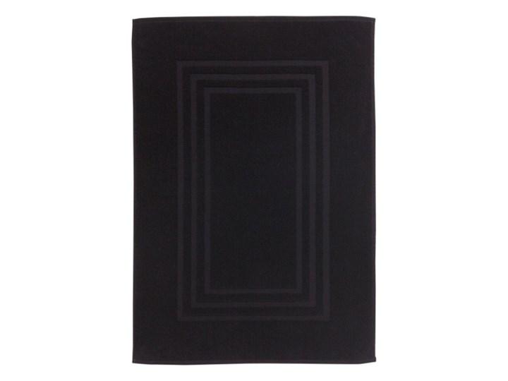Dywanik łazienkowy Palmi bawełniany 60 x 90 cm czarny 60x90 cm Bawełna Prostokątny Kategoria Dywaniki łazienkowe