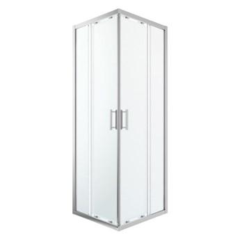 Kabina prysznicowa kwadratowa GoodHome Beloya 70 x 70 x 195 cm chrom/transparentna