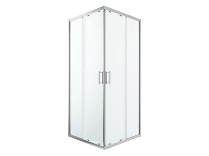 Kabina prysznicowa kwadratowa GoodHome Beloya 90 x 90 x 195 cm chrom/transparentna