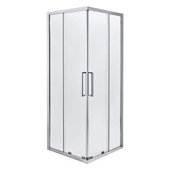 Kabina prysznicowa kwadratowa Zilia 80 x 80 x 200 cm inox/transparentna