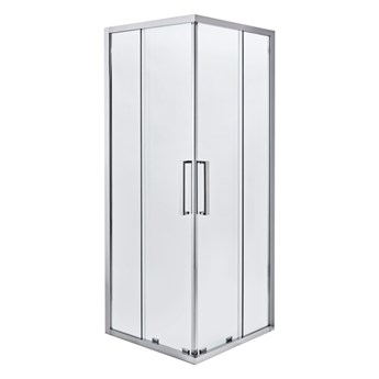 Kabina prysznicowa kwadratowa Zilia 90 x 90 x 200 cm inox/transparentna