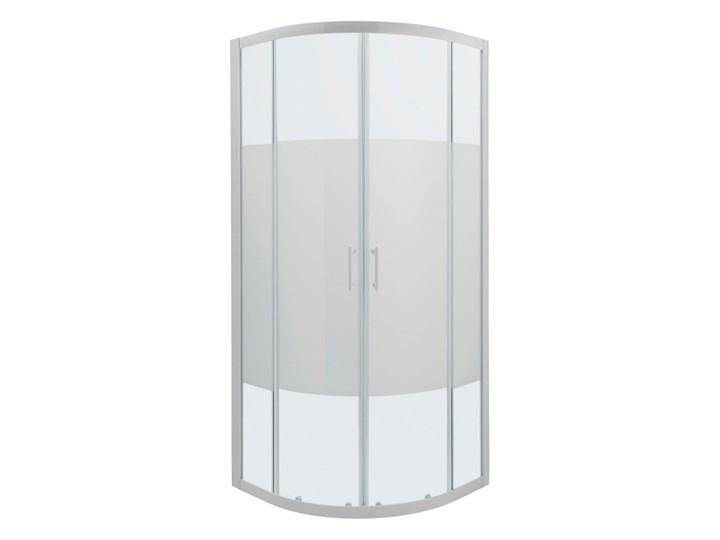 Kabina prysznicowa półokrągła Onega 90 x 90 x 190 cm biały/wzór