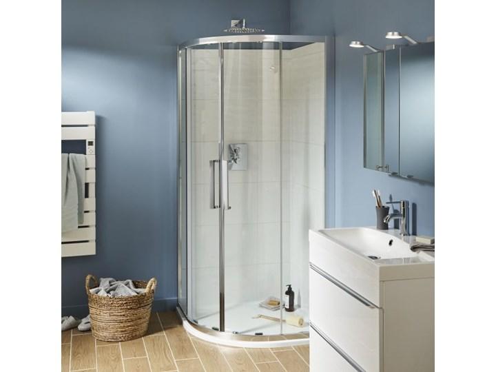 Kabina prysznicowa półokrągła Zilia 90 x 90 x 200 cm inox/transparentna
