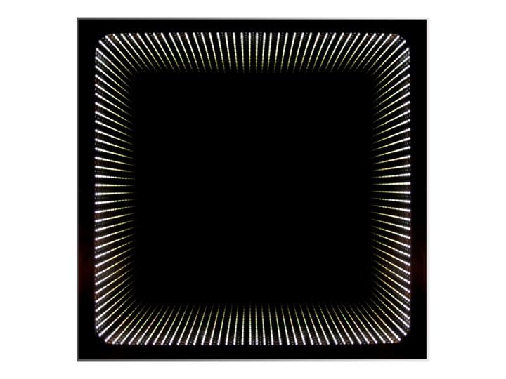 Lustro kwadratowe Dubiel Vitrum Wenecja 49 x 49 cm z oświetleniem