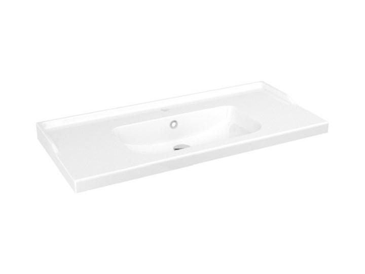 Umywalka ceramiczna GoodHome Lana 100 cm z syfonem
