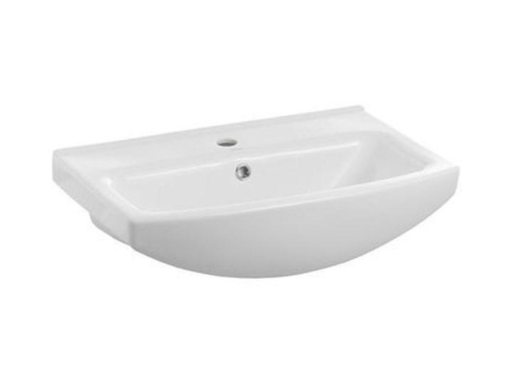 Umywalka meblowa ceramiczna Cersania 55 cm z otworem na armaturę Prostokątne Ceramika Meblowe Kategoria Umywalki Kolor Biały