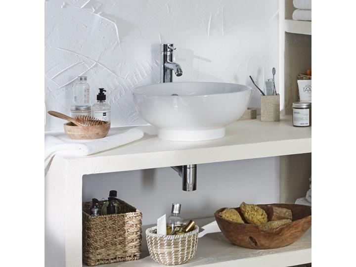 Umywalka nablatowa ceramiczna GoodHome Nura śr. 40 cm biała Ceramika Nablatowe Okrągłe Kolor Biały Kategoria Umywalki
