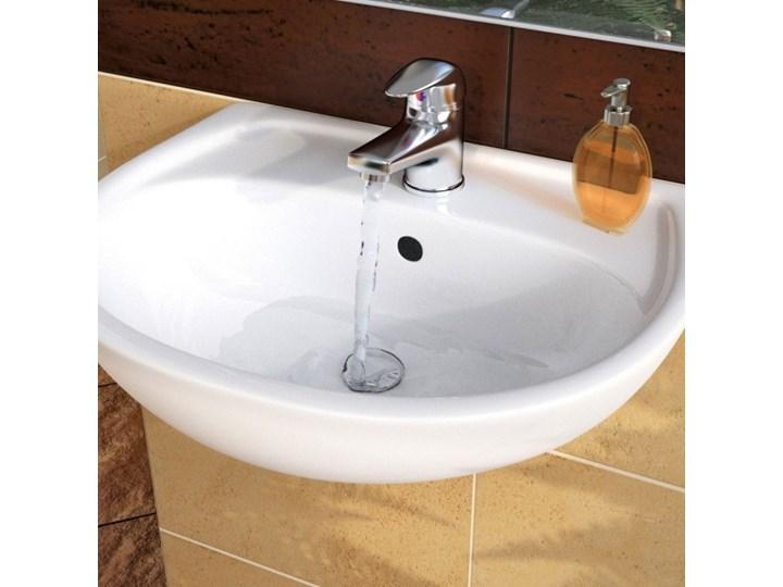 Umywalka ścienna ceramiczna Koło Solo 40 x 33 cm biała z otworem na armaturę Półokrągłe Ceramika Szerokość 40 cm Podwieszane Kolor Biały