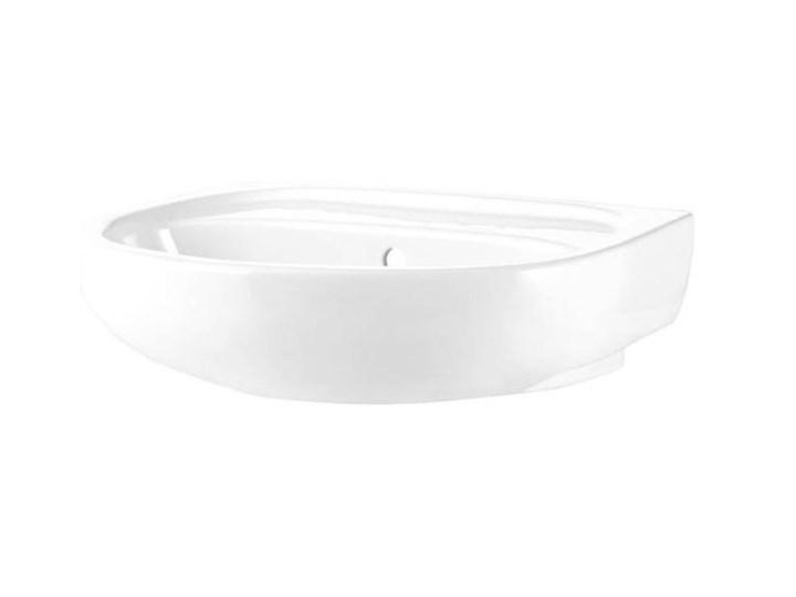Umywalka ścienna ceramiczna Koło Solo 50 x 42 cm biała bez otworu na armaturę