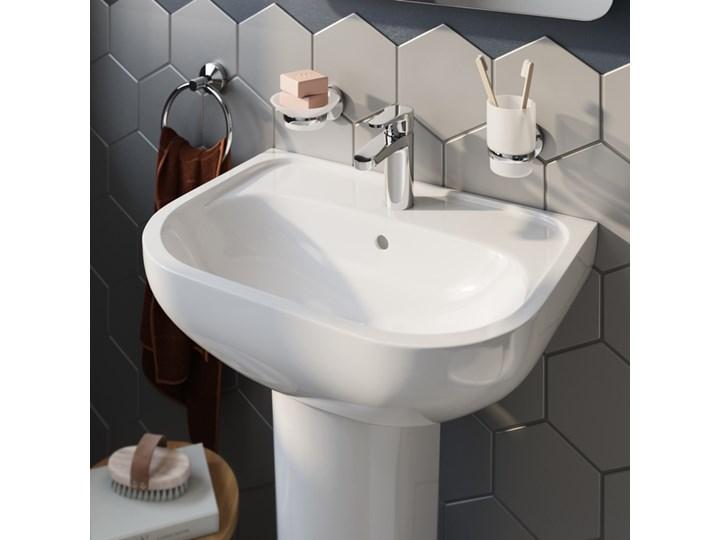 Umywalka ścienna GoodHome Cavally 40 x 56 cm z otworem na armaturę Kategoria Umywalki Prostokątne Szerokość 40 cm Podwieszane Kolor Biały