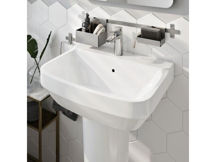 Umywalka ścienna GoodHome Teesta 40 x 56 cm z otworem na armaturę Szerokość 40 cm Podwieszane Kategoria Umywalki Prostokątne Kolor Biały