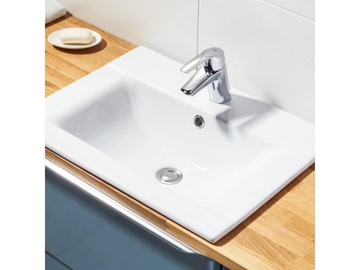Umywalka wpuszczana Cooke&Lewis Faros ceramiczna 60 x 45 cm biała Prostokątne Wpuszczane Kolor Biały Ceramika Kategoria Umywalki
